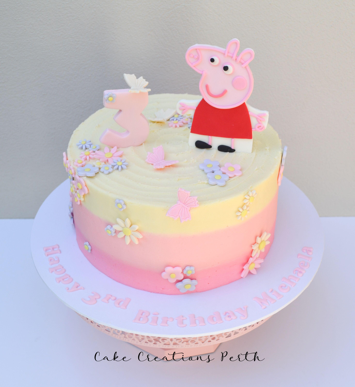 Michaela S Peppa Pig Cake Pig Birthday Cakes Peppa Pig Birthday