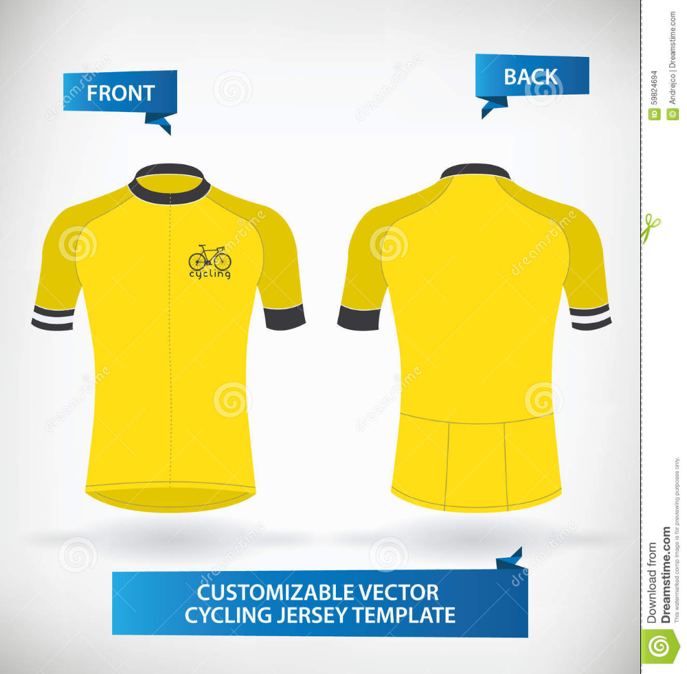 Illustration About Customizable Vector Cycling Jersey Template