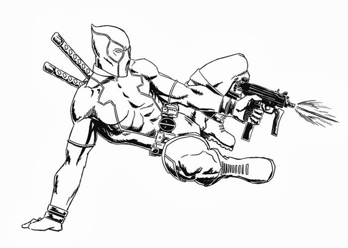 Deadpool Coloring Pages - Free Coloring page for kids | Pinterest