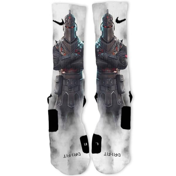 Fortnite Legendary Black Knight Smoke Custom Nike Elite Socks
