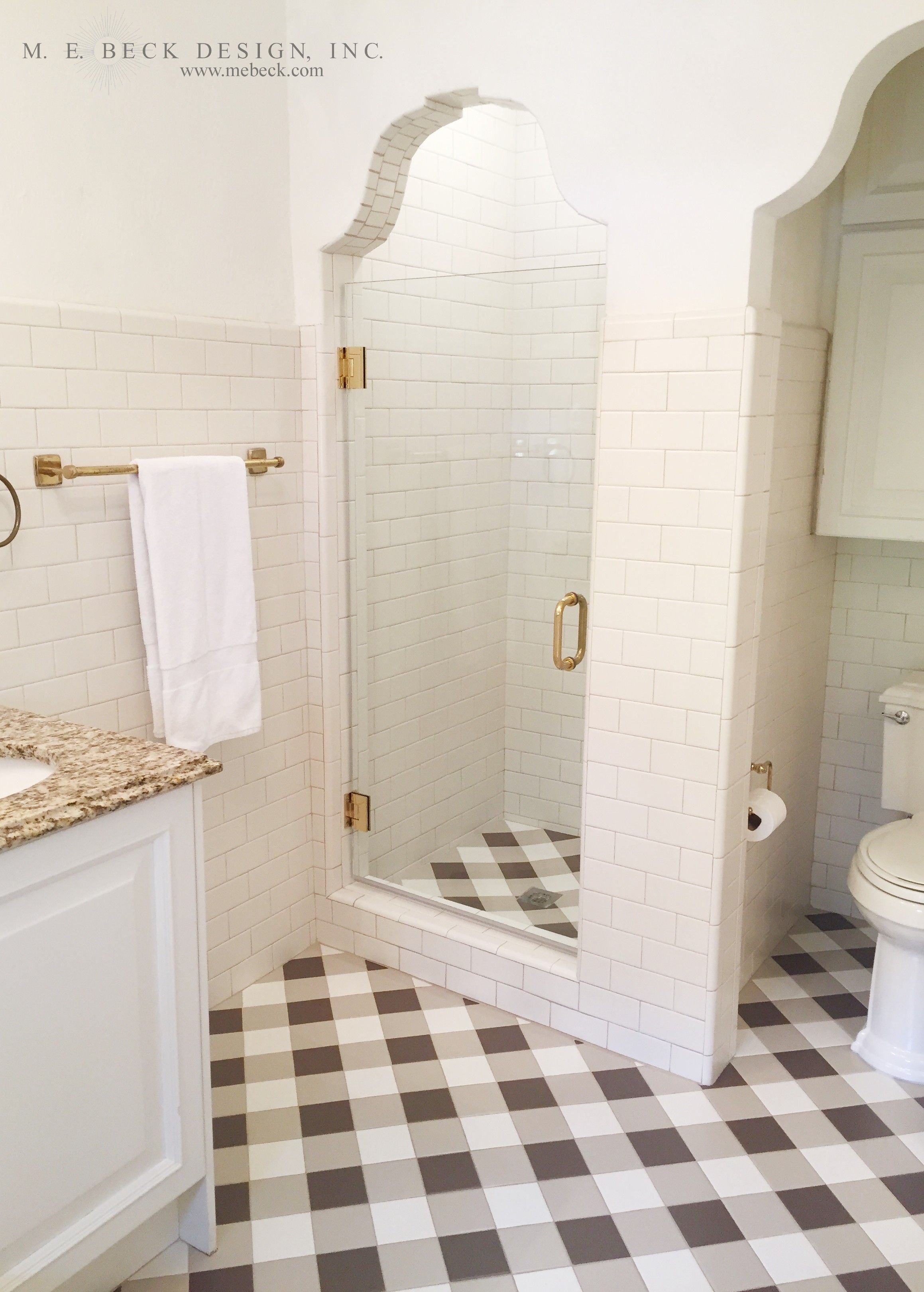 M. E. Beck Design, Inc - 1920\'s Restoration - custom gingham tile ...
