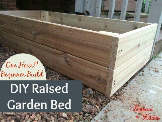 DIY Raised Garden Bed: Beginner Level - Total Cost = $30. Length of Time = 1 hour. Skill Level = easy/beginner