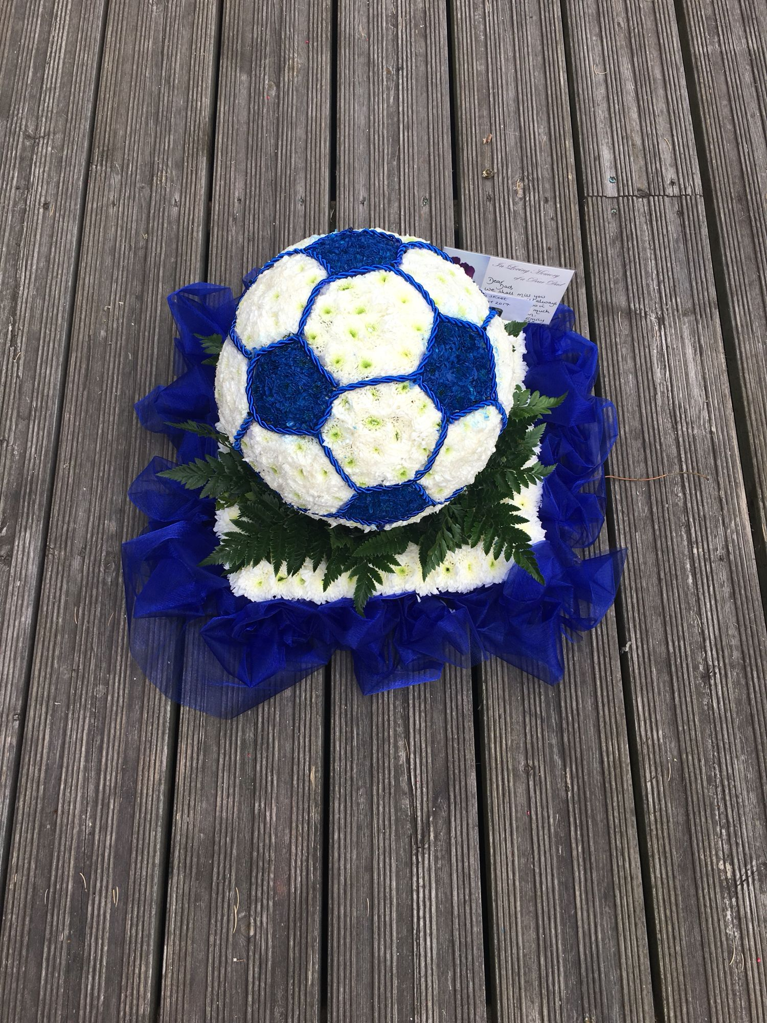 Football funeral tribute funeral flower tributes pinterest football funeral tribute izmirmasajfo