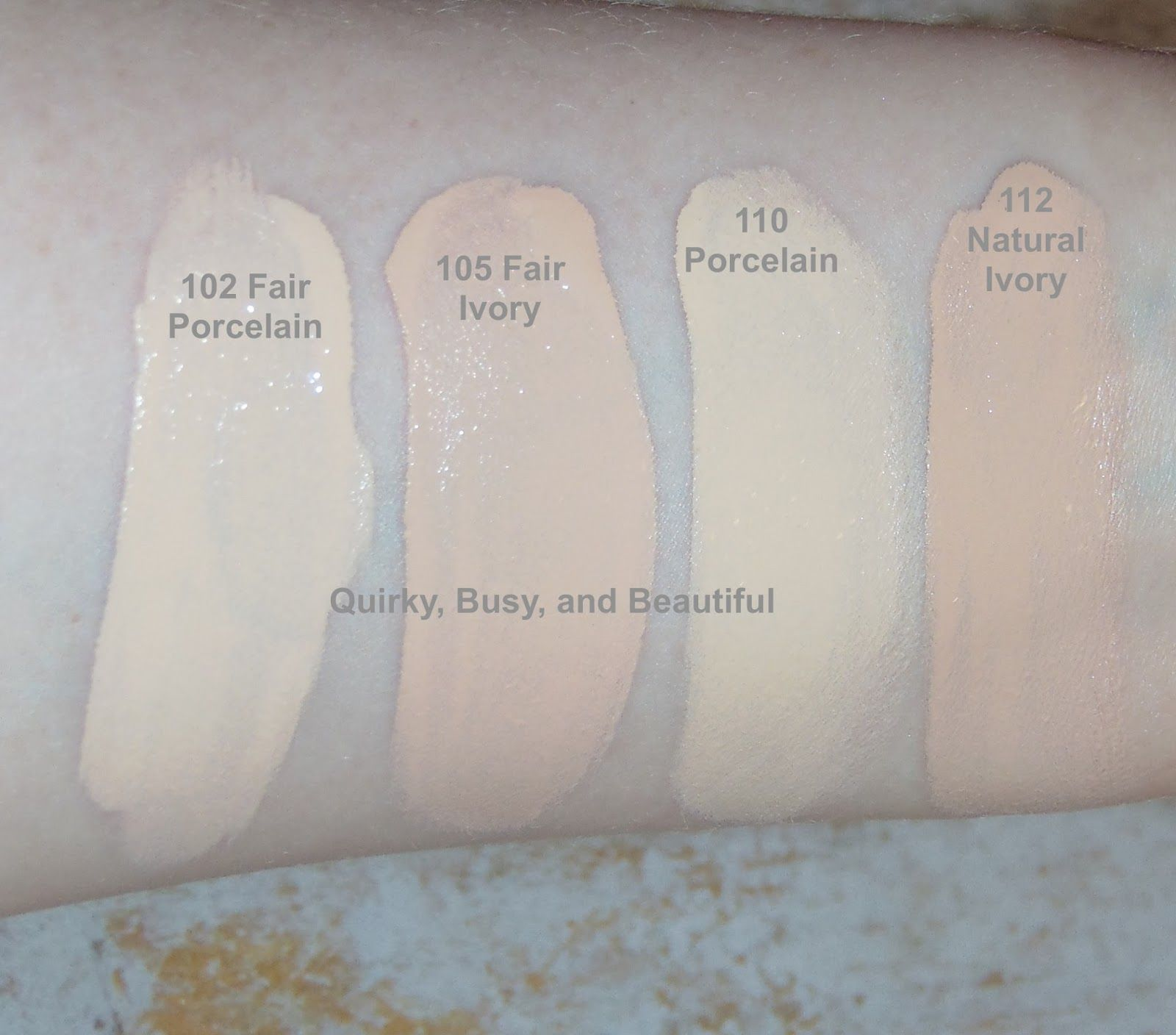 Lightest shades of maybelline fit me matte and pore less