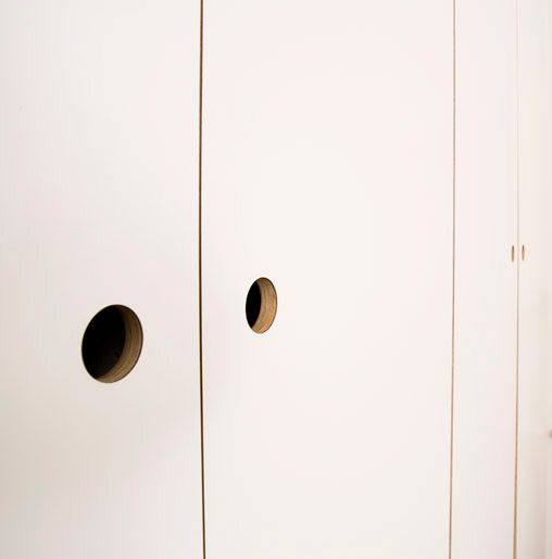 Simple Clean Cabinetry From Birch Ply Formica Laminate Kitchen By Matt Antrobus Will Give Your Kit Kitchen Door Handles Formica Plywood Furniture