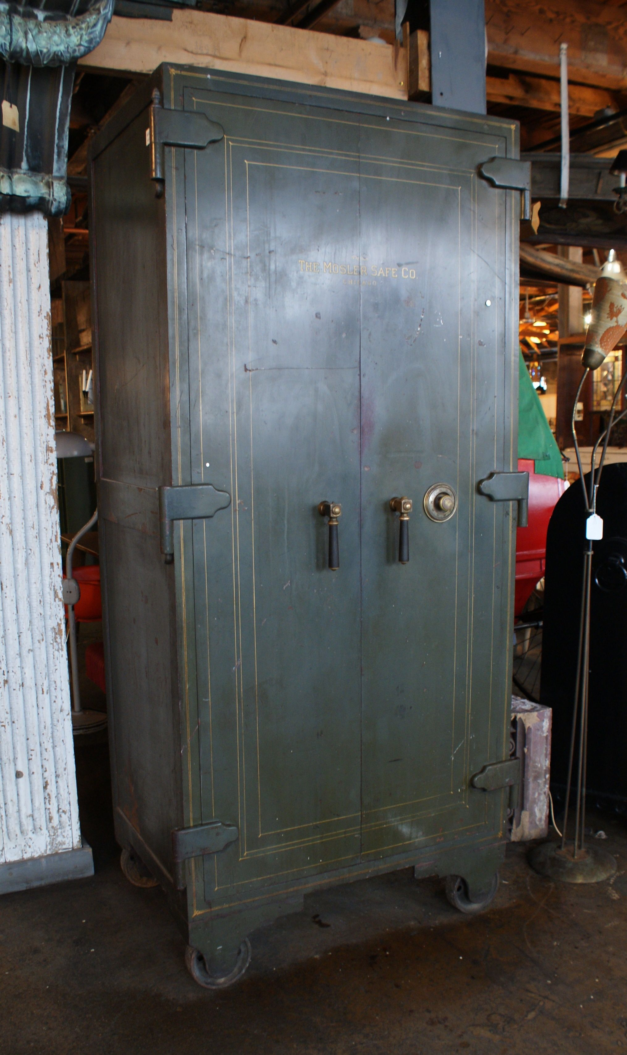 Antique Mosler 2 Door Safe Antique Safe Antiques Repurposed