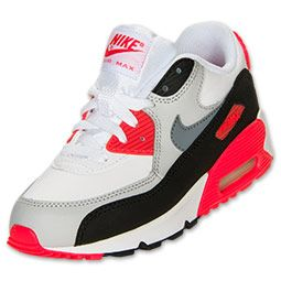 nike air max 90 youth gs white red