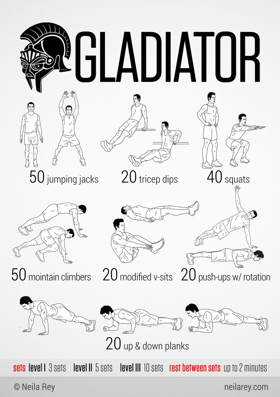gladiator workout workout routines trainings gladiator workout 100 workout no equipment. Black Bedroom Furniture Sets. Home Design Ideas
