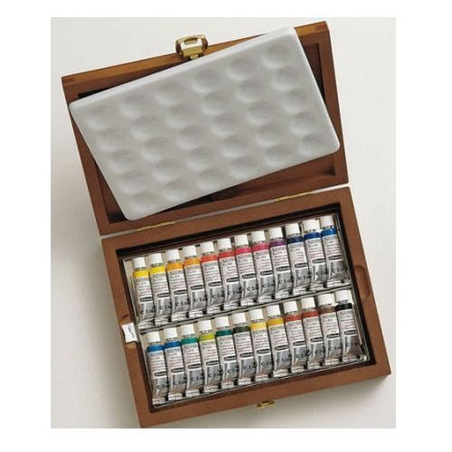 Details About Schmincke Horadam Aquarell Wooden Box With 24x5ml