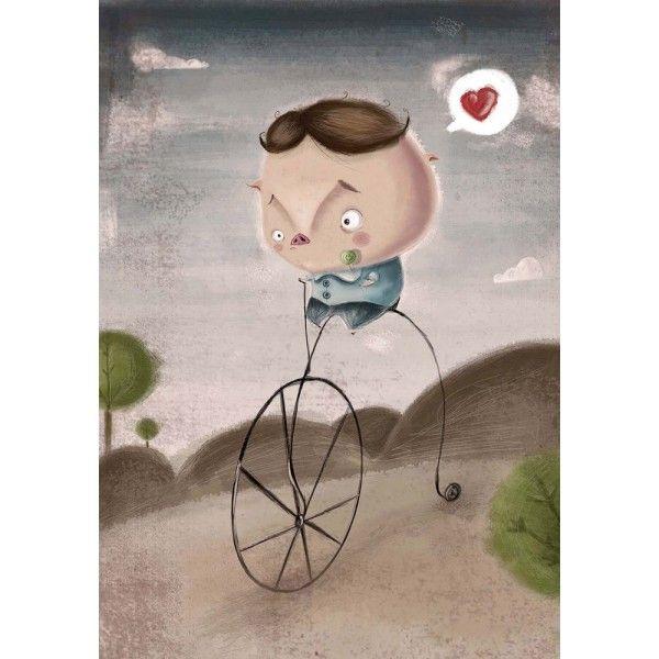 """«Pig Love» por Alejandro de Marcos. Dibujante, ilustrador. Reproducción ink-jet 8 colores con tintas DYE (consiguen un alto grado de calidad en impresión y mayor luminosidad). Papel fotográfico """"satin"""" 240 gr. http://moolacool.com/es/84-alejandro-de-marcos-pig-love-cartel.html"""