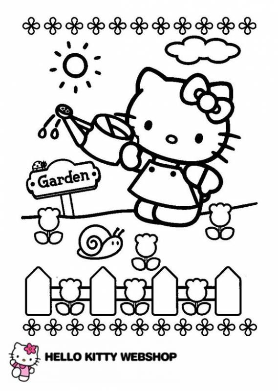 Hello Kitty Kleurplaten 2 Hello Kitty Colouring Pages Hello Kitty Drawing Hello Kitty Coloring
