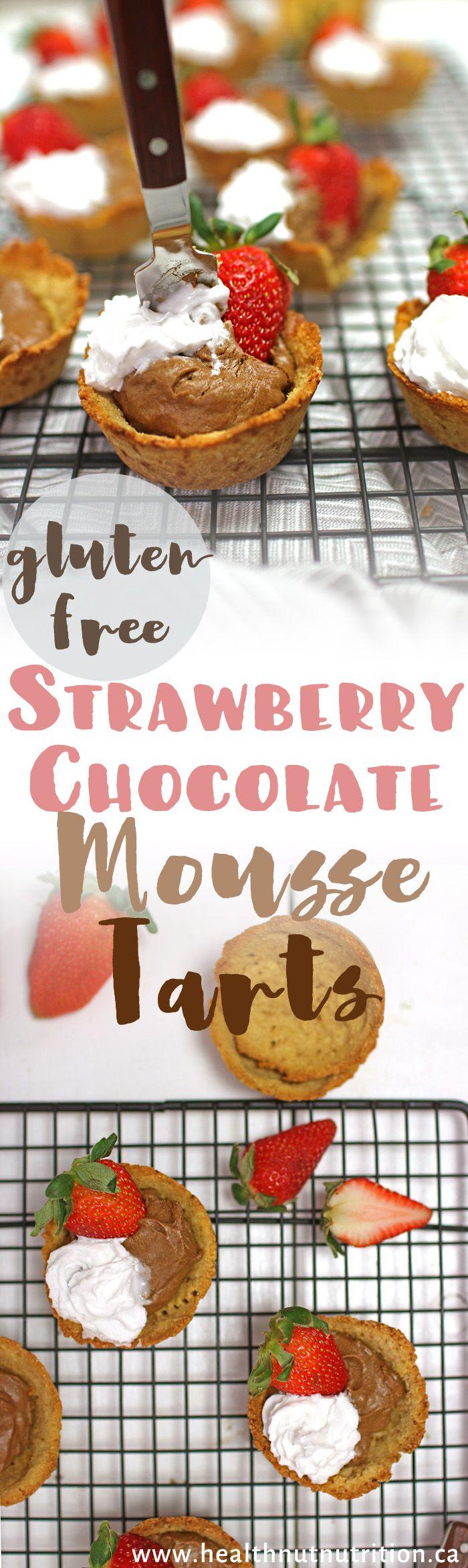 Strawberry Chocolate Mousse Tarts