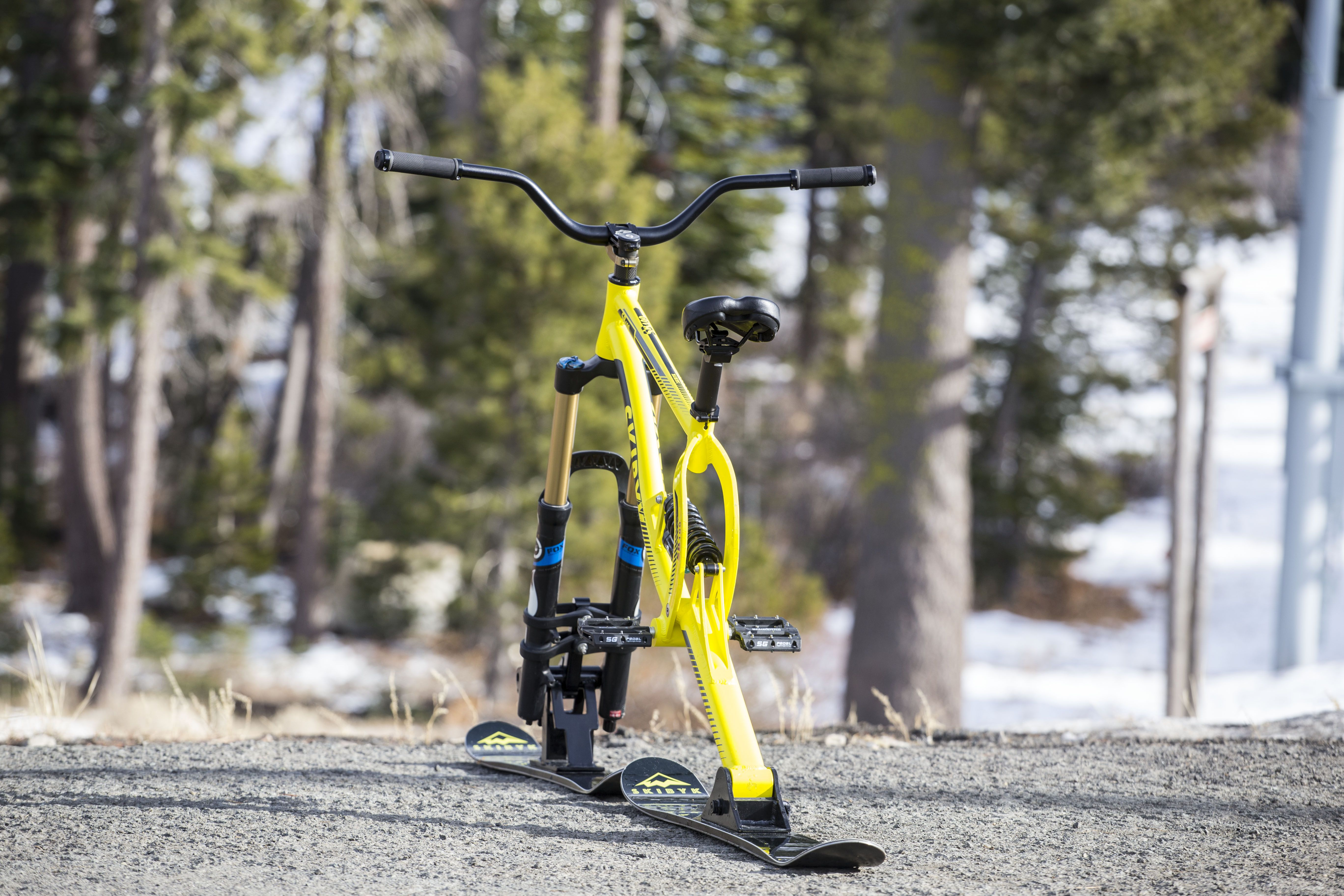 Ski Bike Full Suspension Skibike Bike Snowbike