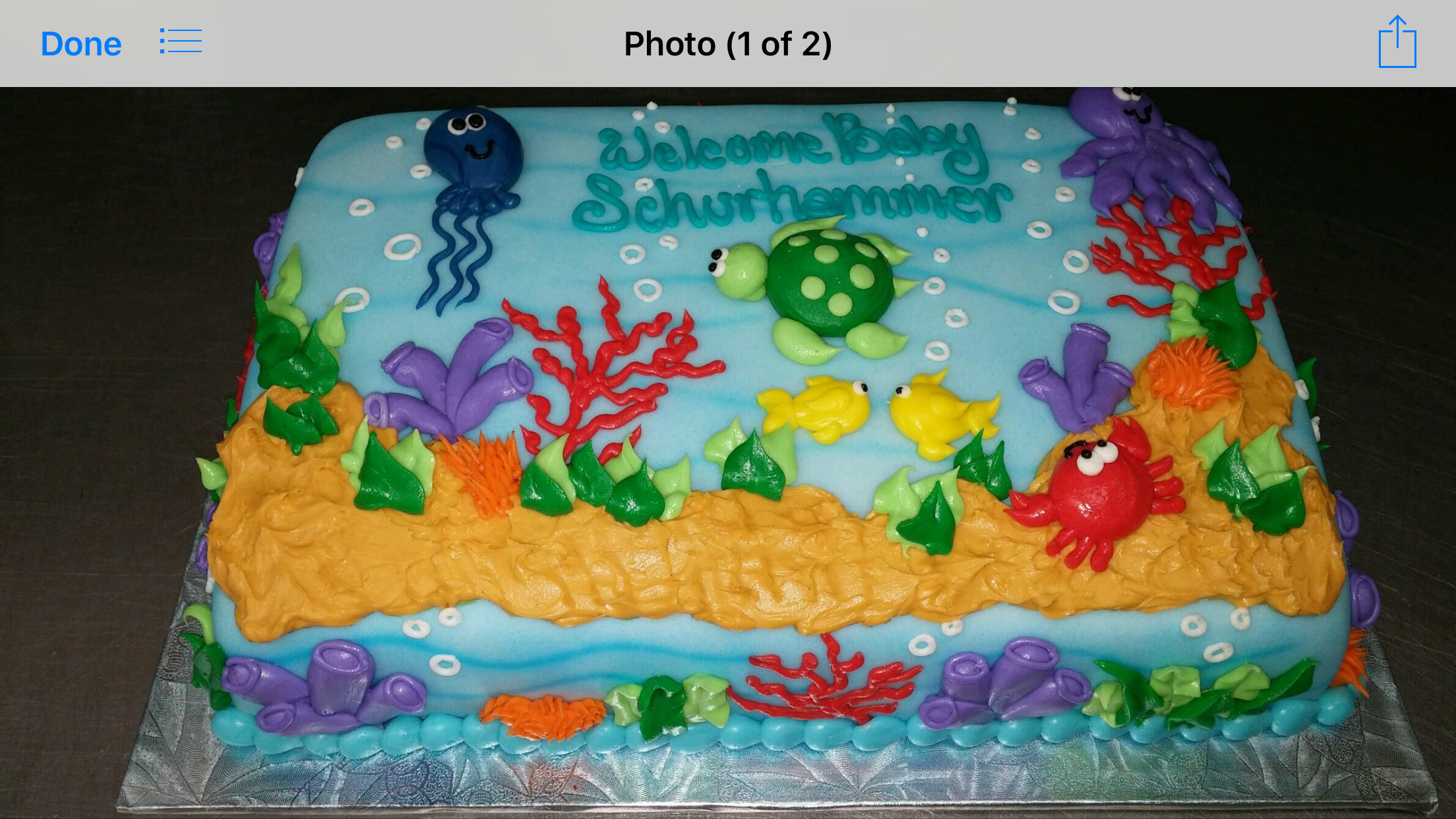 Under The Sea Theme Sheet Cake In Buttercream Birthday Sheet Cakes Boy Birthday Cake Themed Birthday Cakes