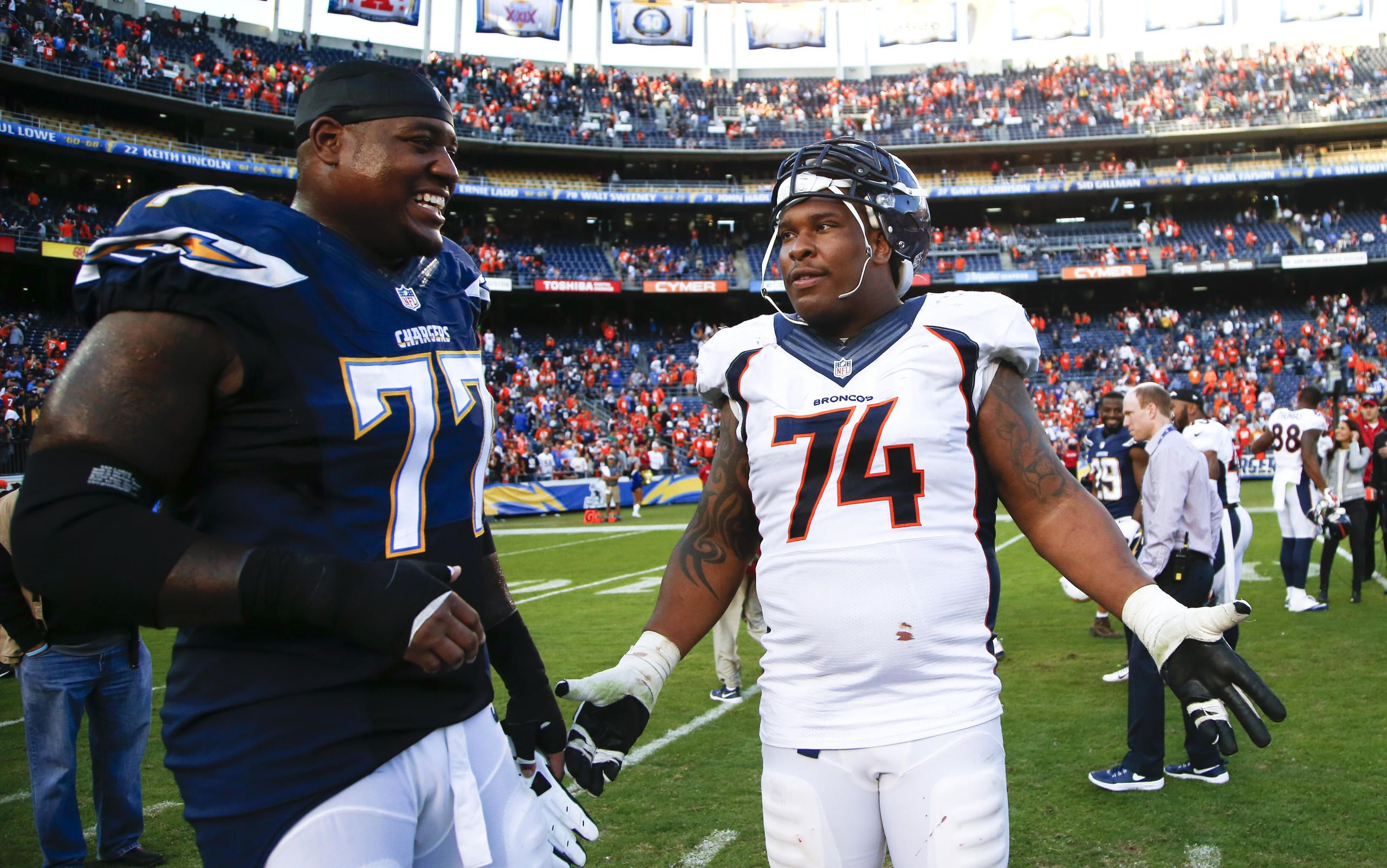 King Dunlap and Orlando Franklin   San diego chargers, Dunlap ...