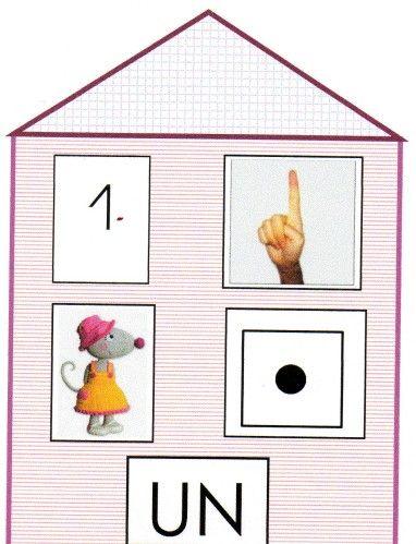 les maisons des chiffres activit s enfants pinterest chiffre le chiffre et la maison. Black Bedroom Furniture Sets. Home Design Ideas
