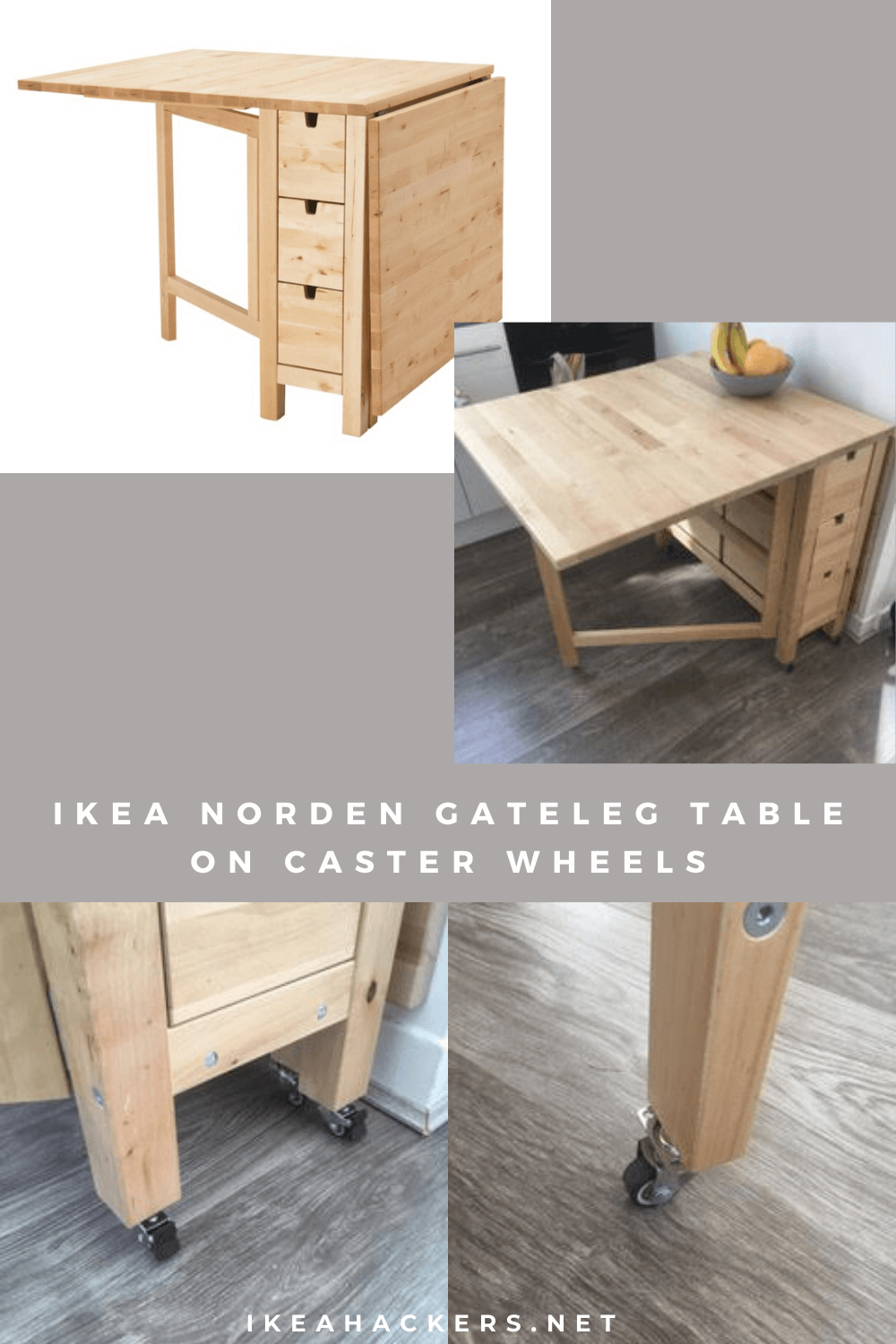Ikea Norden Gateleg Table Made Mobile Get The Right Wheels For Job Of Moving This 100lb Hack
