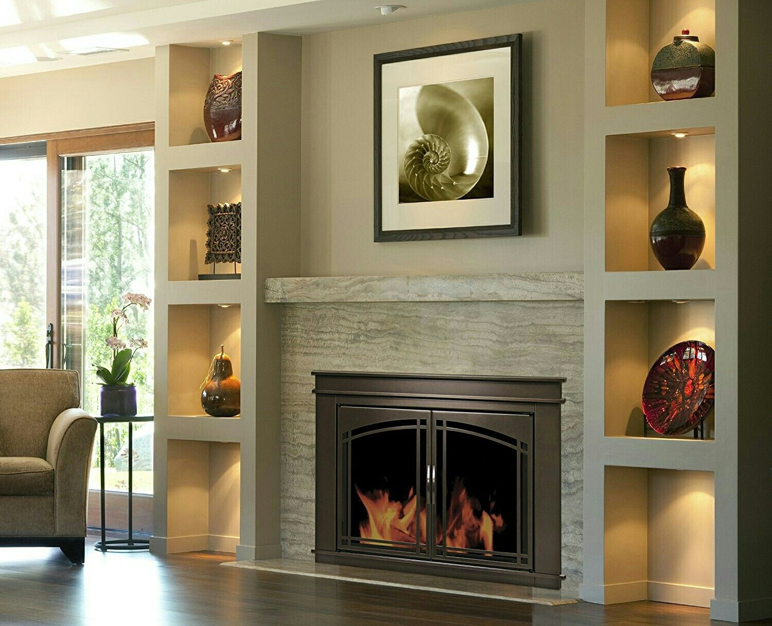 Pin By Linda Wilson On Fireplace Built In Electric Fireplace