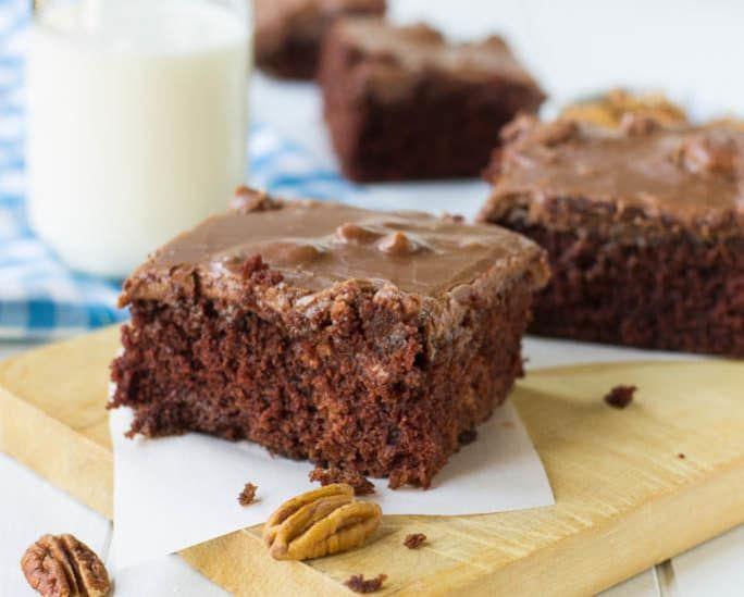 Chocolate Buttermilk Cake With Frosting Spicy Southern Kitchen Recipe Homemade Cakes Homemade Chocolate Chocolate Cake Recipe Easy