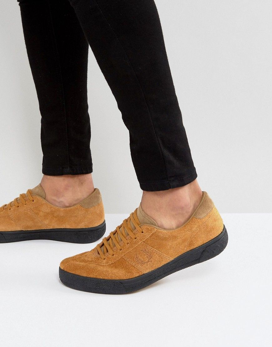 Fred Perry Sports Authentic Suede Tennis Sneakers in Tan - Tan