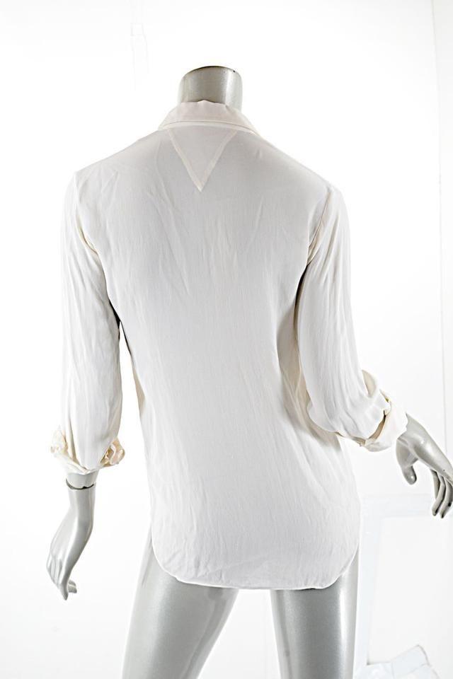 2aae636baab9a theyskens  theory 100% Silk Top White