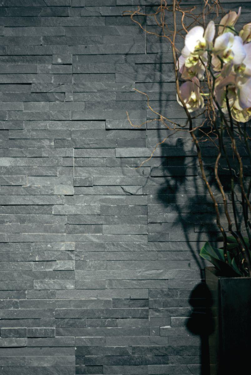 Plaquette Pierre Naturelle Ardoise Épinglé sur parement pierre exterieur