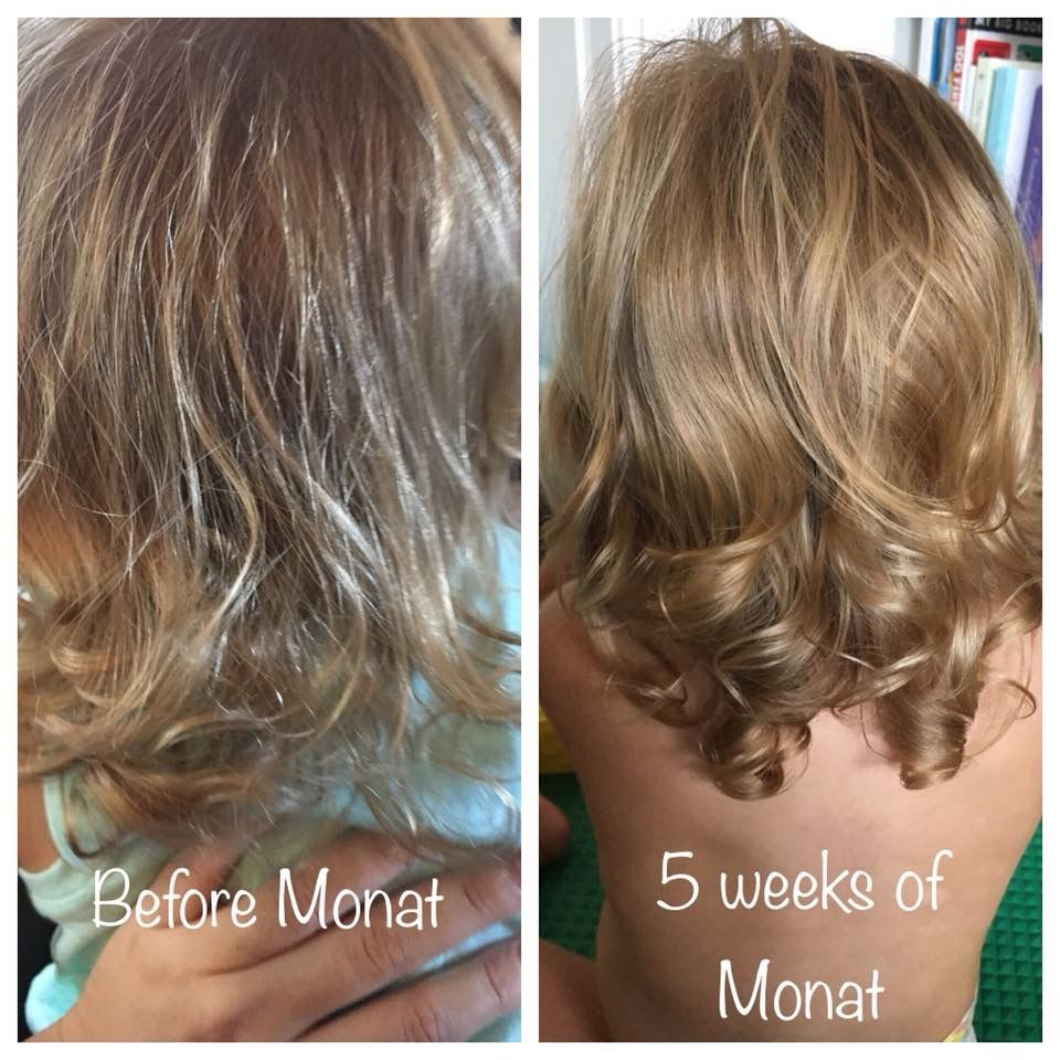 Child Using Monat Junior Line Monat Hair Monat Monat Before And After