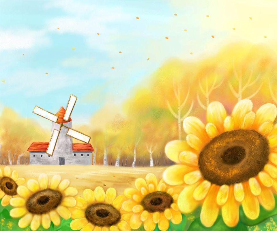 Tesla Wallpapers Group 85: Group Of Cartoon Wallpapers Sunflower