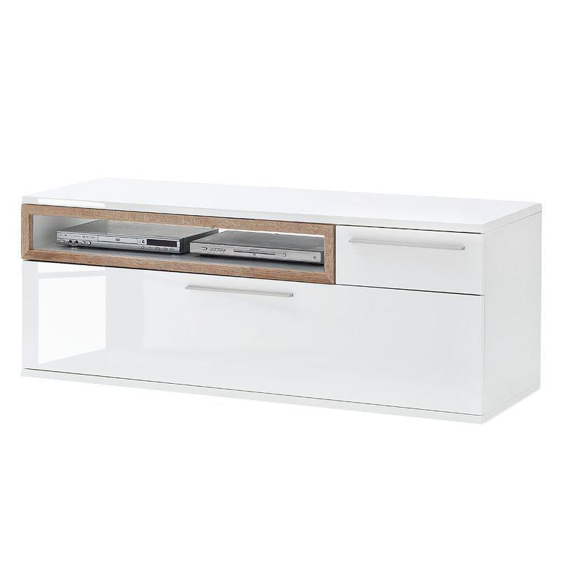 TV-Schrank Ledigos I - Hochglanz Weiß   Weiß, mooved Wohnzimmer - schrank wohnzimmer weiß