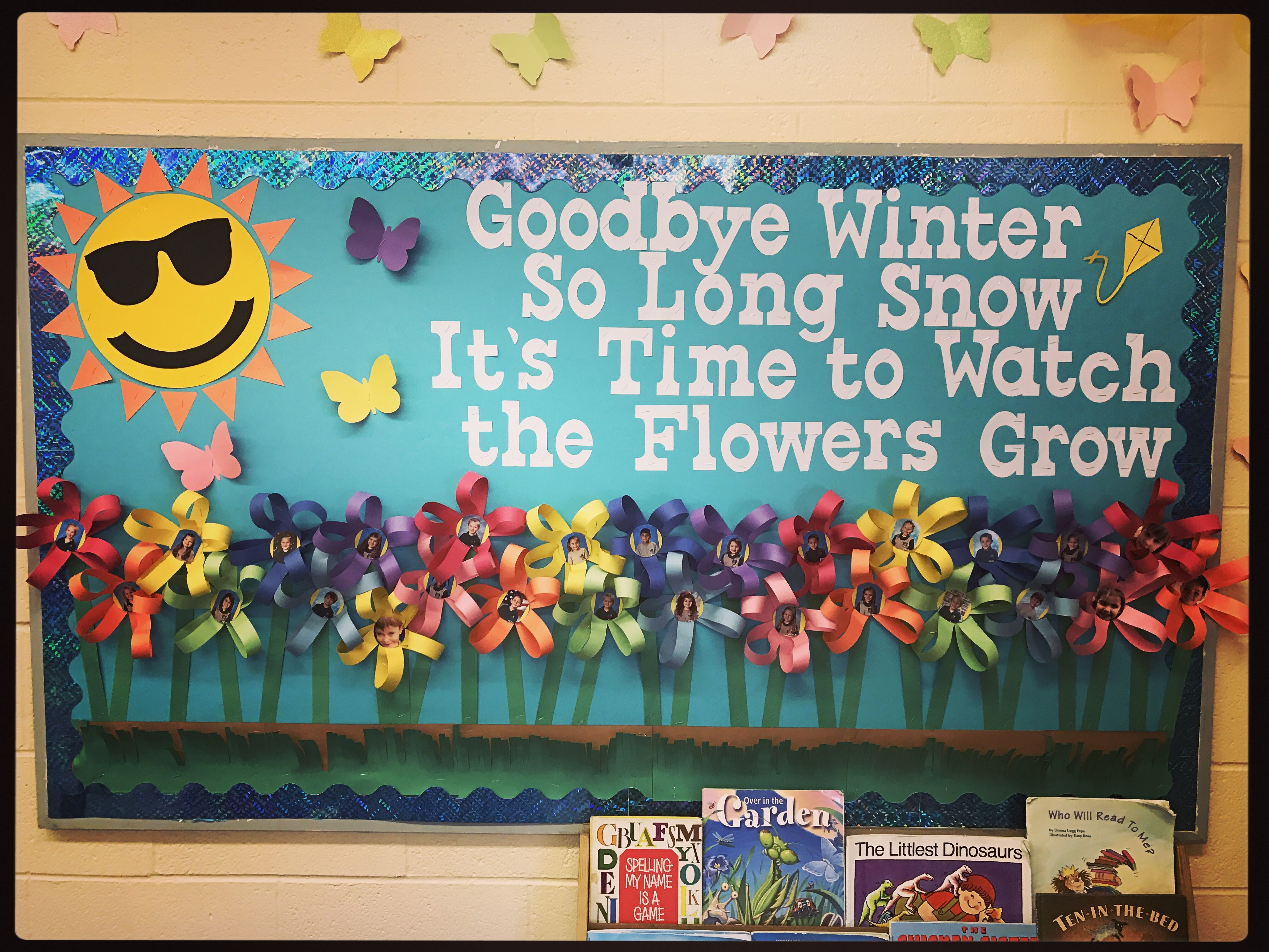 Spring time Bulletin Board | Spring bulletin boards, Work ...