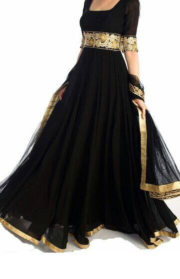 8eff0ee981 Black & gold anarkali. | 1 - Modern Fashion from India in 2019 ...