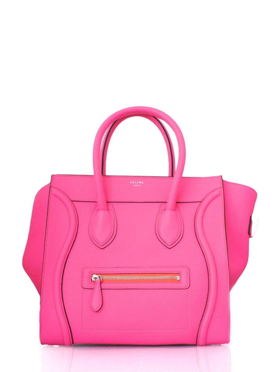 5220814ed2 Celine Boston Bag in Neon Pink!