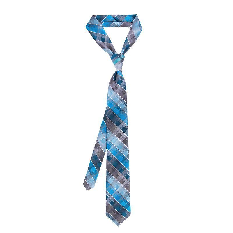 Men's Van Heusen Tie Right Patterned Pre-Tied Tie, Brt Blue