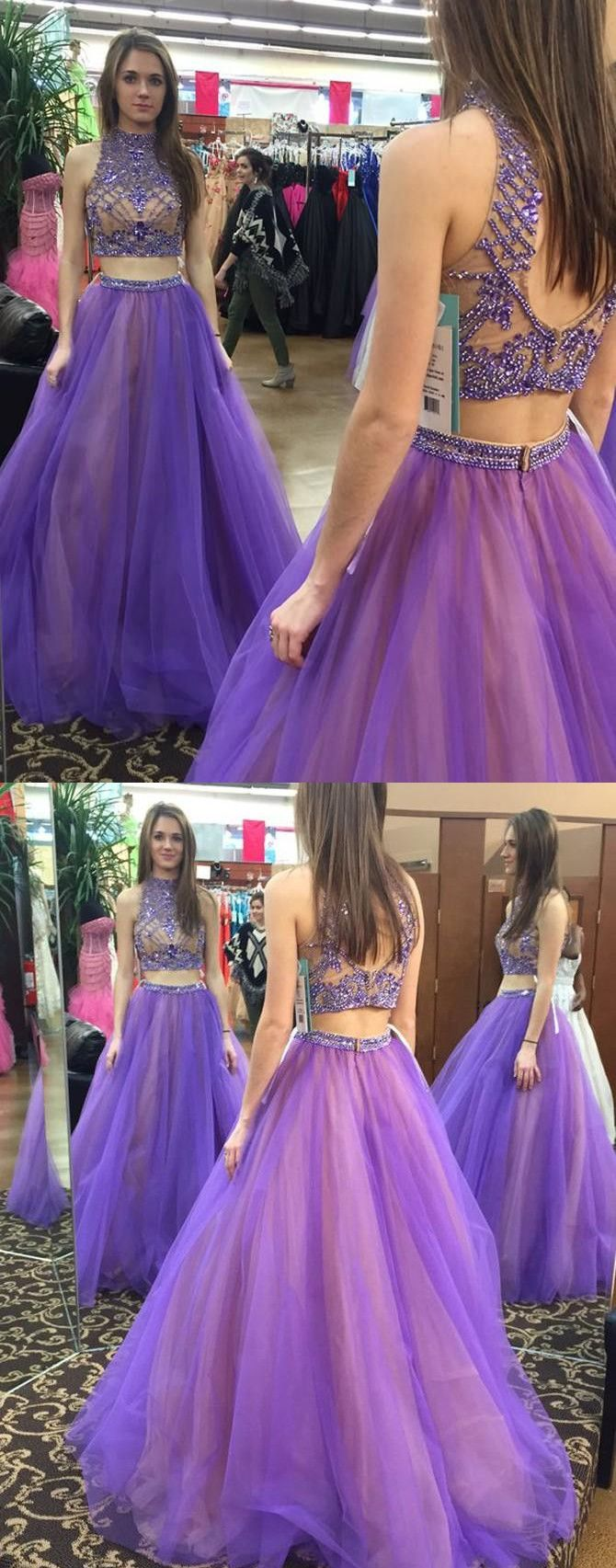 2017 two piece prom dresses,open back prom dresses,sexy back evening ...
