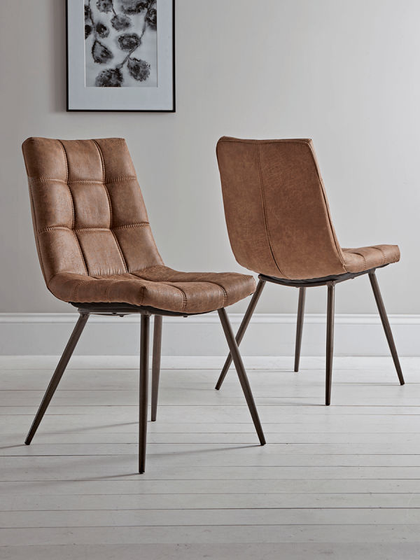 Two Soho Dining Chairs Tan In 2019 Uk