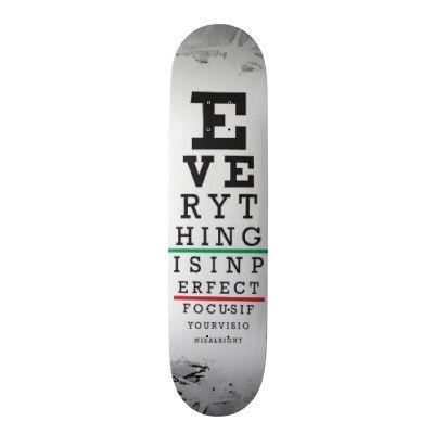 Optometry Eye Chart Illustration Skateboard Deck Zazzle Com Optometria Opticas