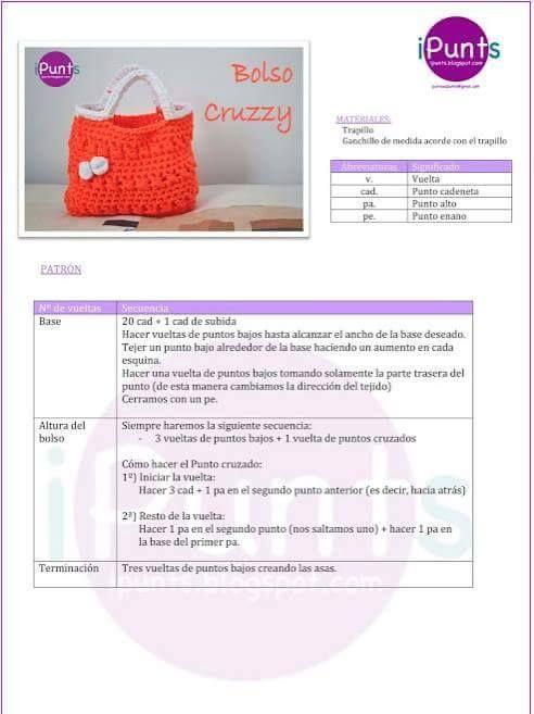 bolso Cruzzy | Bolsos, carteras,sombreros y accesorios a Crochet ...