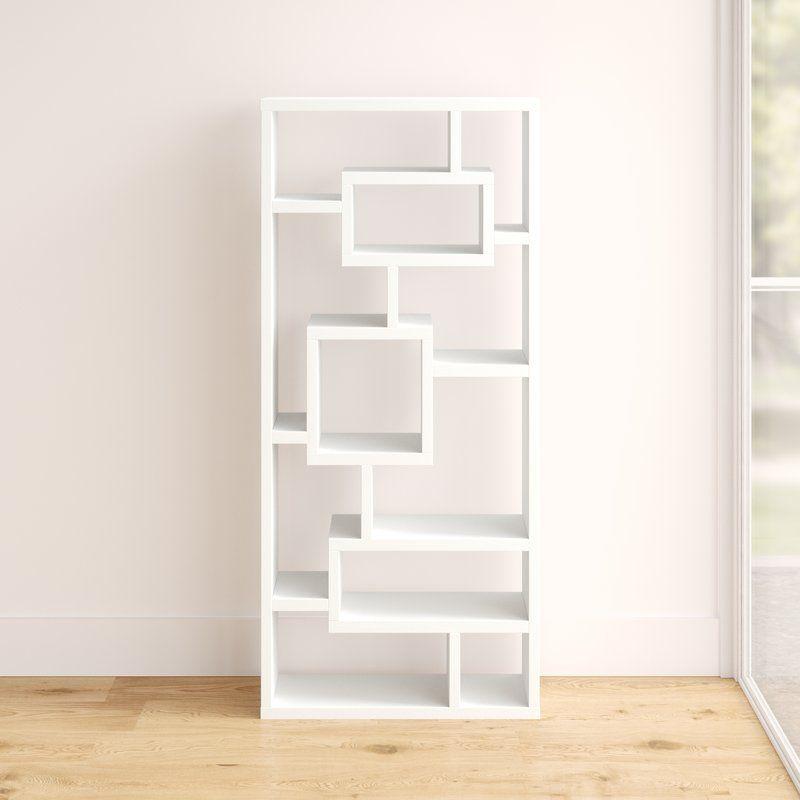 Cleisthenes Geometric Bookcase Bookcase Contemporary Bookcase Etagere Bookcase
