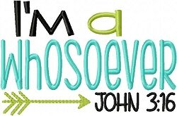 I M A Whosoever Boy Version 2 Sizes Words And Phrases Machine Embroidery Designs Machine Embroidery Words Embroidery Designs