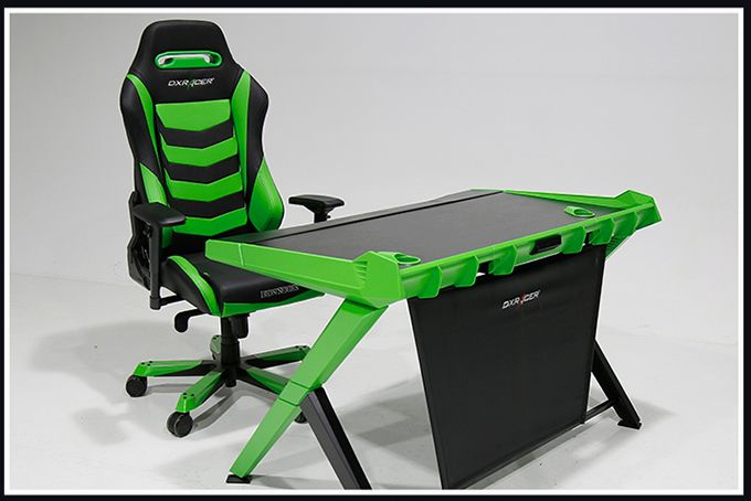 Pre Order Dxracer Green Gaming Desk Pc Xbox Xboxone Videogames Games Callofduty White Leather Dining Chairs Video Game Room Leather Chair With Ottoman