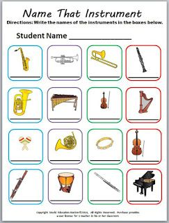 Music Game {Name That Instrument} | music | Kindergarten music