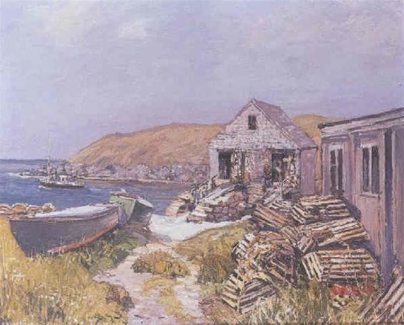 """""""Balmy days,"""" Edward Willis Redfield, 1928, oil on canvas, 26 x 32"""", private collection."""