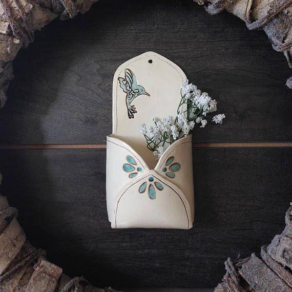 Ceramic Wall Flower Decor: Ceramic Wall Pocket