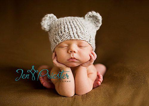 Knit Newborn Baby Bear Hat Pattern By Olesya Pronyaeva Ravelry