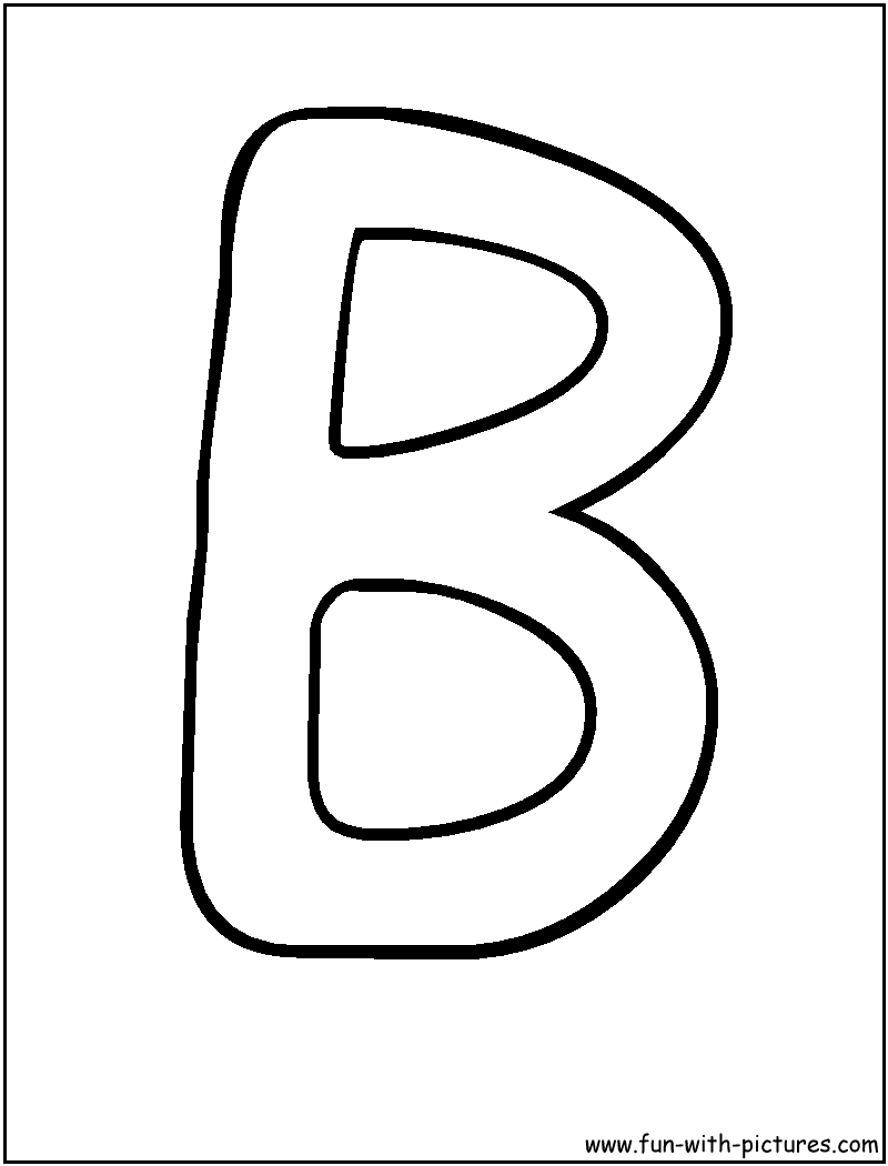 print Letters B Coloring Pages Cute things for kids