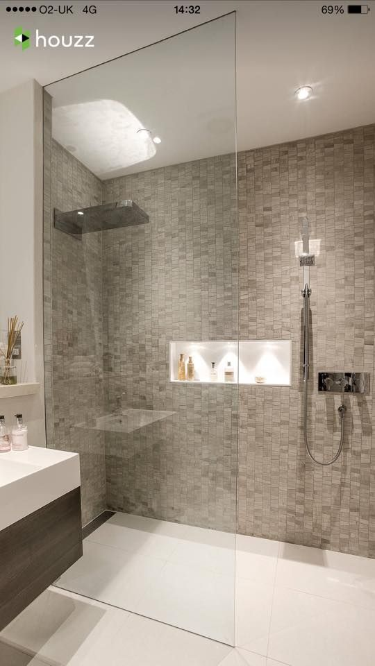 Love The Intergrated Lighting In The Cubby Holes Shower Room