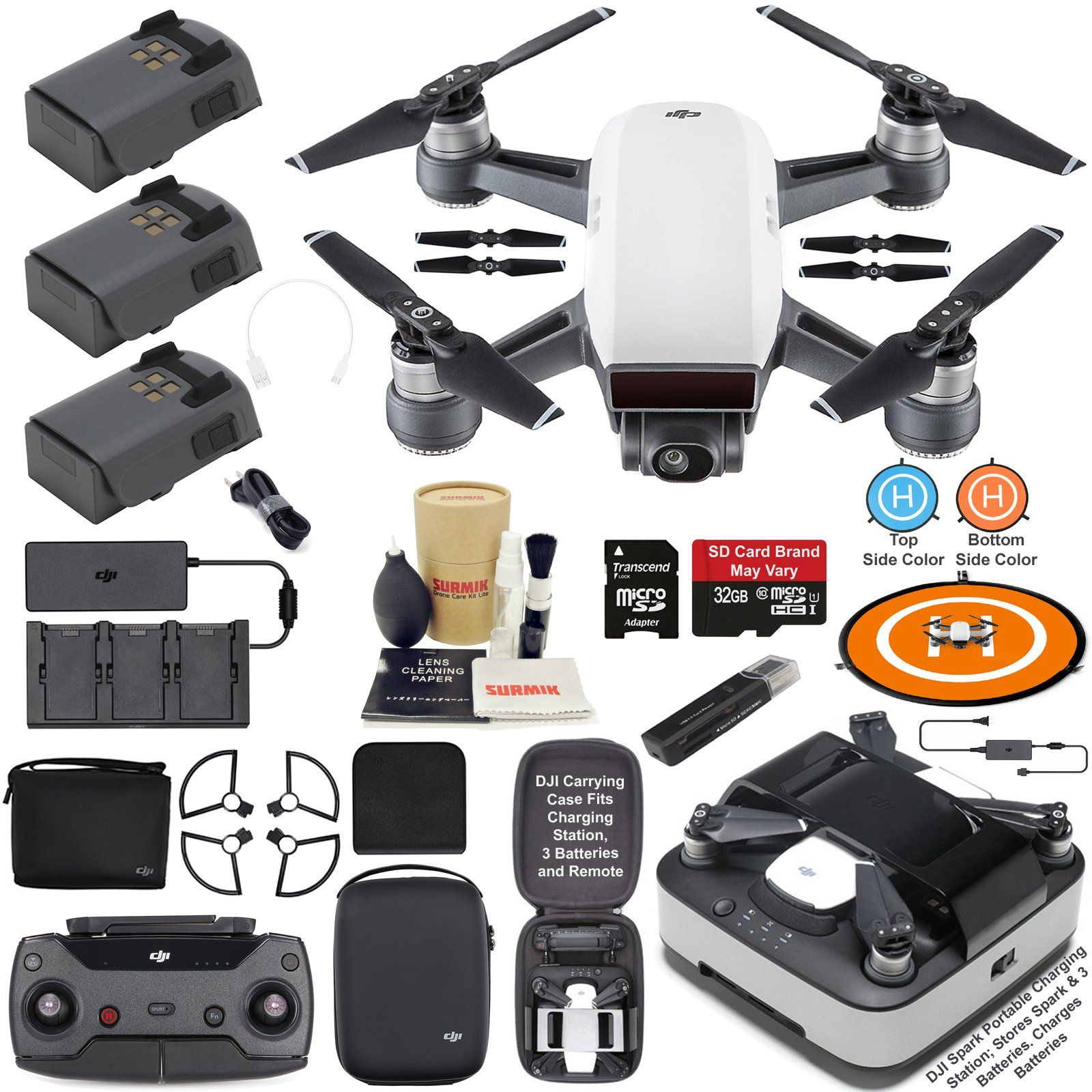 DJI Spark Drone Quadcopter Fly More Combo Alpine White with
