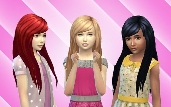 Cute Hair for Girls at My Stuff via Sims 4 Updates