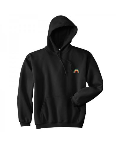 Basic Rainbow Hoodie Proud Animals Hoodies Black Hooded Sweatshirt Pullover Sweatshirts