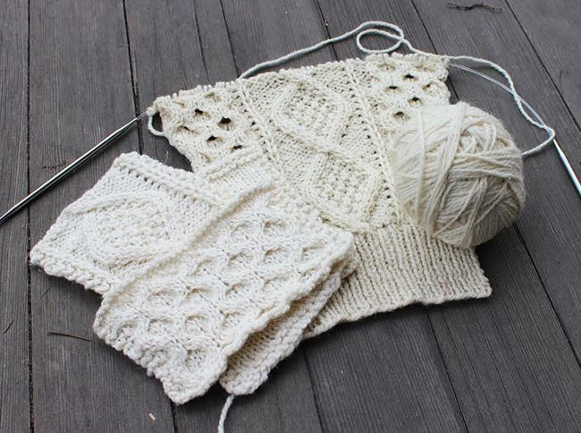 How to knit and measure a cable swatch   Pinterest